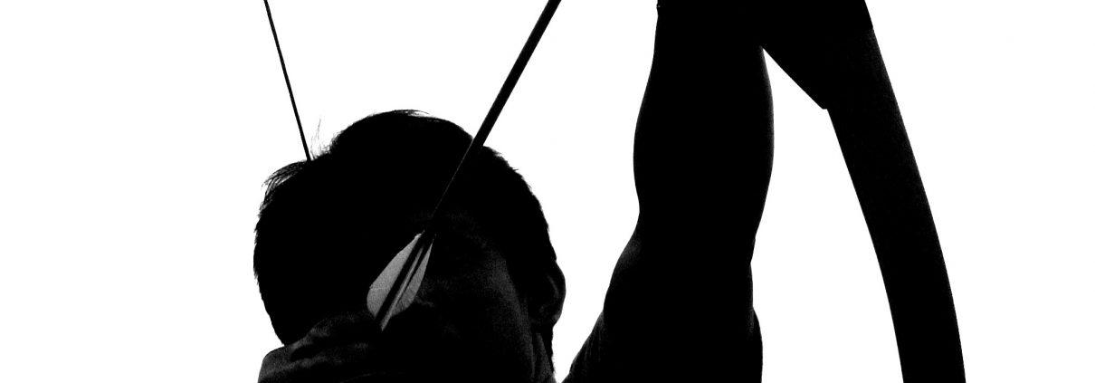 silhouette van een pijl en boog schieter, keuzemogelijkheid voor Parkmix